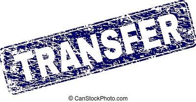 Grunge TRANSFER Framed Rounded Rectangle Stamp - TRANSFER...