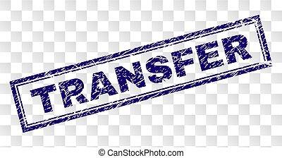 Grunge TRANSFER Rectangle Stamp - TRANSFER stamp seal print...