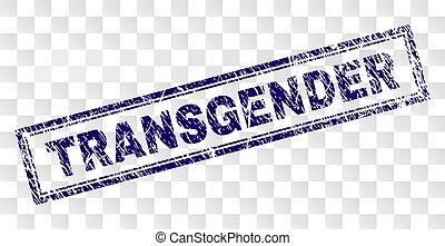 Grunge TRANSGENDER Rectangle Stamp - TRANSGENDER stamp seal...