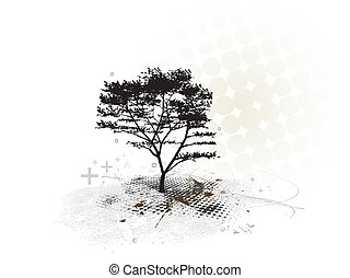 grunge tree background
