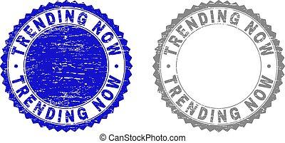 Grunge TRENDING NOW Textured Stamp Seals