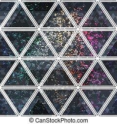 Grunge triangle seamless pattern.