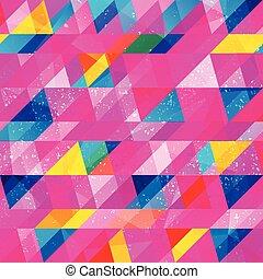 grunge, triangulo, seamless, padrão