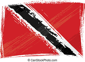 Grunge Trinidad and Tobago flag - Trinidad and Tobago...
