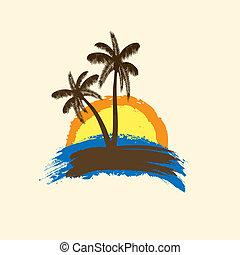 Grunge tropical background