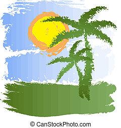 grunge, tropische , achtergrond