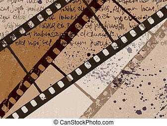 grunge, ułożyć, eps10., tło., wektor, textured, abstrakcyjny, film