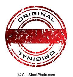 grunge, ufficio, francobollo, astratto, gomma, rosso