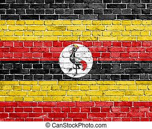 Grunge Uganda flag
