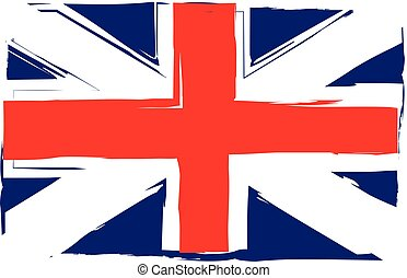 Grunge UK flag or banner vector illustration