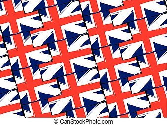 Grunge UK flag or banner