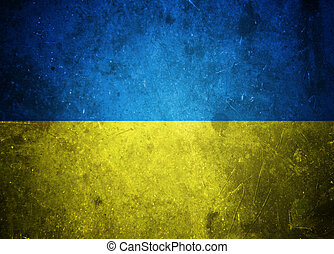 Grunge Ukrainian flag illustration - Grunge Ukrainian flag...
