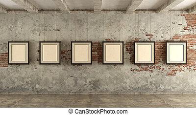grunge, umělecká galerie