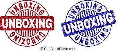 Grunge UNBOXING Textured Round Watermarks
