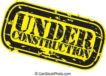 Grunge under construction rubber st