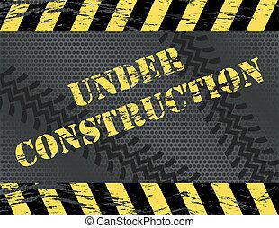 Grunge Under Construction Website Background
