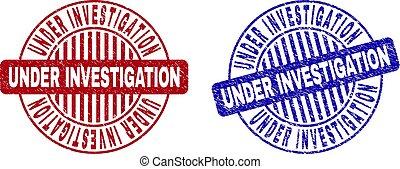 Grunge UNDER INVESTIGATION Textured Round Stamp Seals