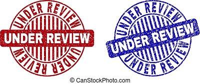 Grunge UNDER REVIEW Scratched Round Watermarks
