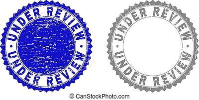 Grunge UNDER REVIEW Textured Stamp Seals