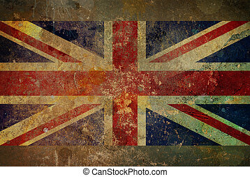 Grunge Union Jack Flag Graphic