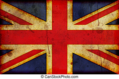 Grunge Union Jack Illustration - An old, dirty and stained...