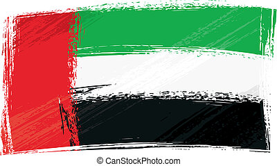 Grunge United Arab Emirates flag - United Arab Emirates...