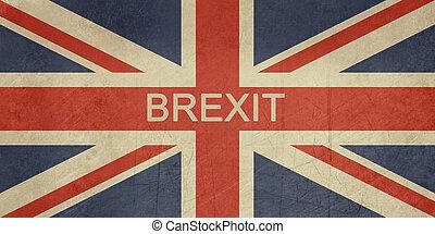 Grunge United Kingdom Brexit Flag