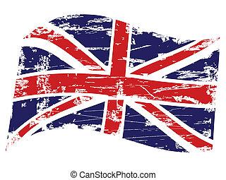 Grunge United Kingdom flag - Grungy texture background of...