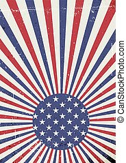 Grunge United States of America flag. Abstract American patriotic background. Vector grunge illustration