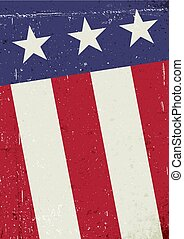 Grunge United States of America flag. Abstract patriotic background. Vector grunge illustration