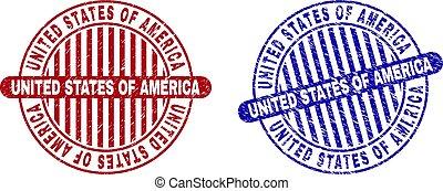 Grunge UNITED STATES OF AMERICA Textured Round Watermarks