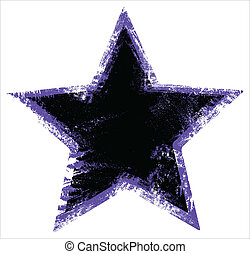 Damage Urban Star Shape - Grunge Vector Illustration Background