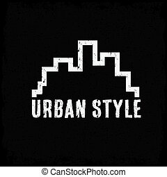 grunge urban style vector design template