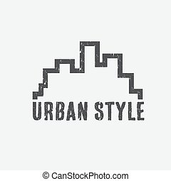 grunge urban style vector design template