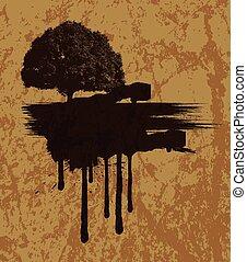 Grunge Urban Tree Banner