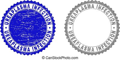 Grunge UREAPLASMA INFECTION Scratched Stamp Seals