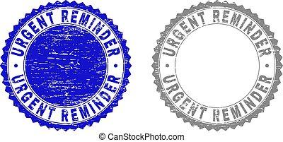 Grunge URGENT REMINDER Textured Stamps