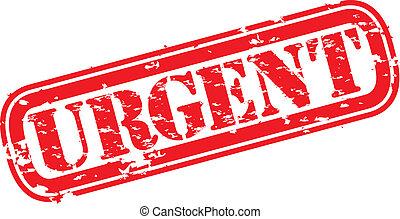 Grunge urgent rubber stamp, vector