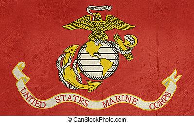 Grunge US Marine Corps flag - Grunge flag of the United...