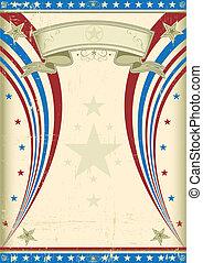 Grunge US vintage poster - A vintage US background for your...