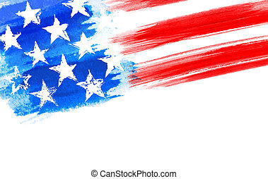 Grunge USA American Flag as a layered vector file