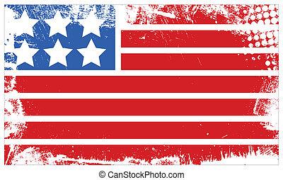 Grunge USA Flag - 4th of July