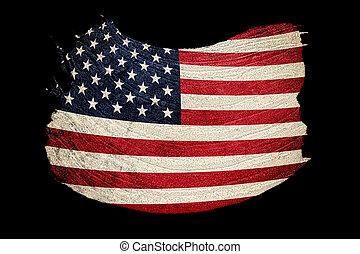 grunge, usa, flag., amerikan flagga, med, grunge, texture., borsta, stroke.