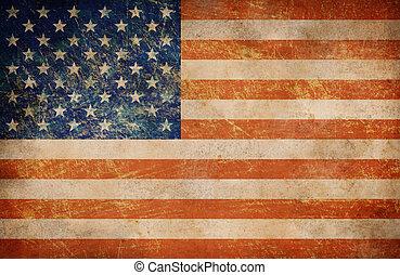 Grunge USA flag as a background