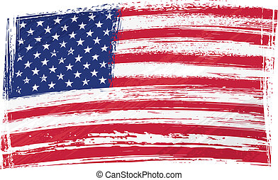 Grunge USA flag - USA national flag created in grunge style