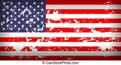 Grunge USA flag national American background