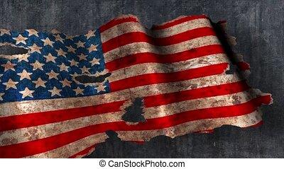 Grunge usa flag on a dark background