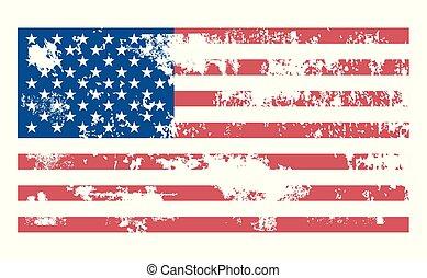 Grunge USA Flag. Vector illustration