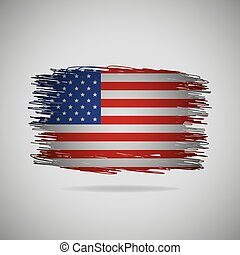 Grunge USA flag. Vector illustration.