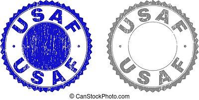 Grunge USAF Scratched Stamp Seals - Grunge USAF stamp seals...